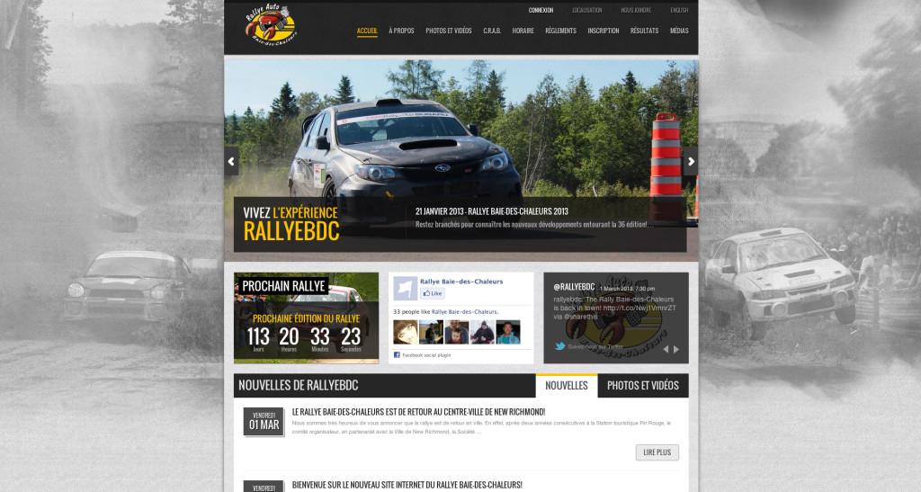 Site Web de Rallye Baie-des-Chaleurs